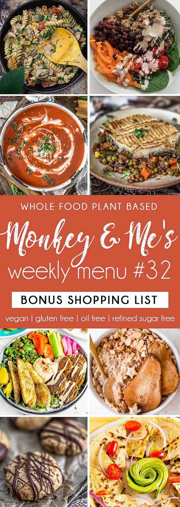 Monkey and Me's Menu 32 featuring 8 recipes