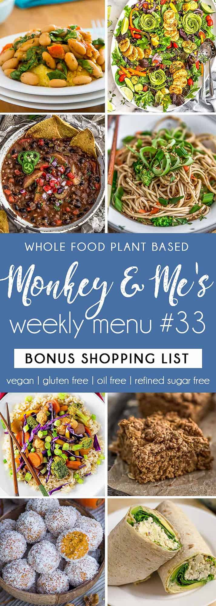 Monkey and Me's Menu 33 featuring 8 recipes