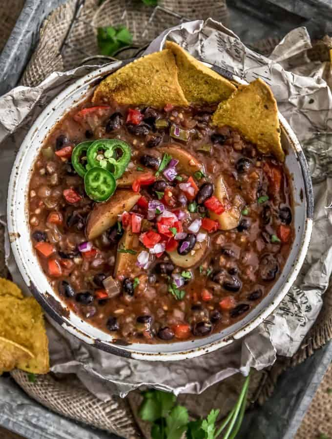 Spicy Black Bean Potato Stew
