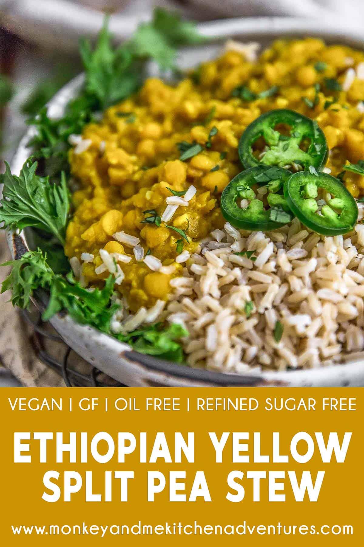 Ethiopian Yellow Split Pea Stew with Text Description