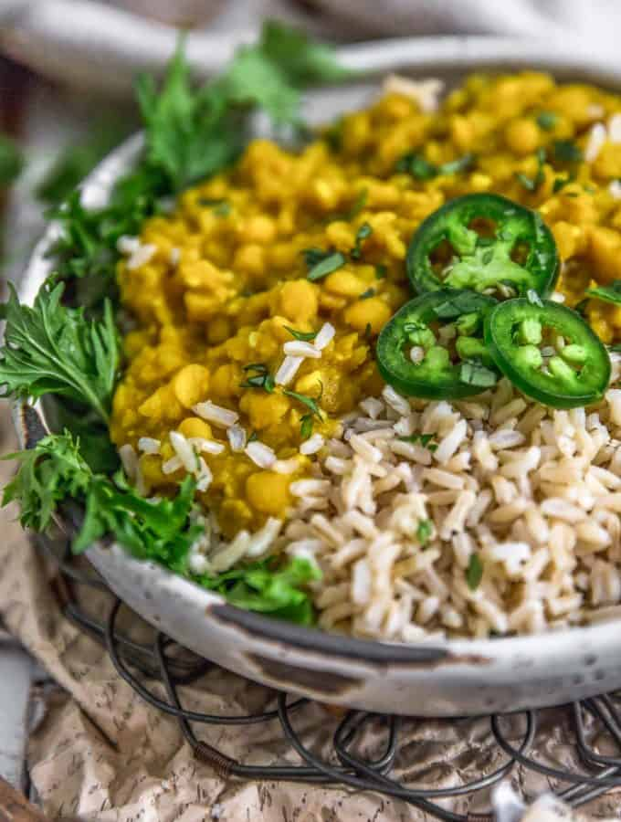 Ethiopian Yellow Split Pea Stew over rice