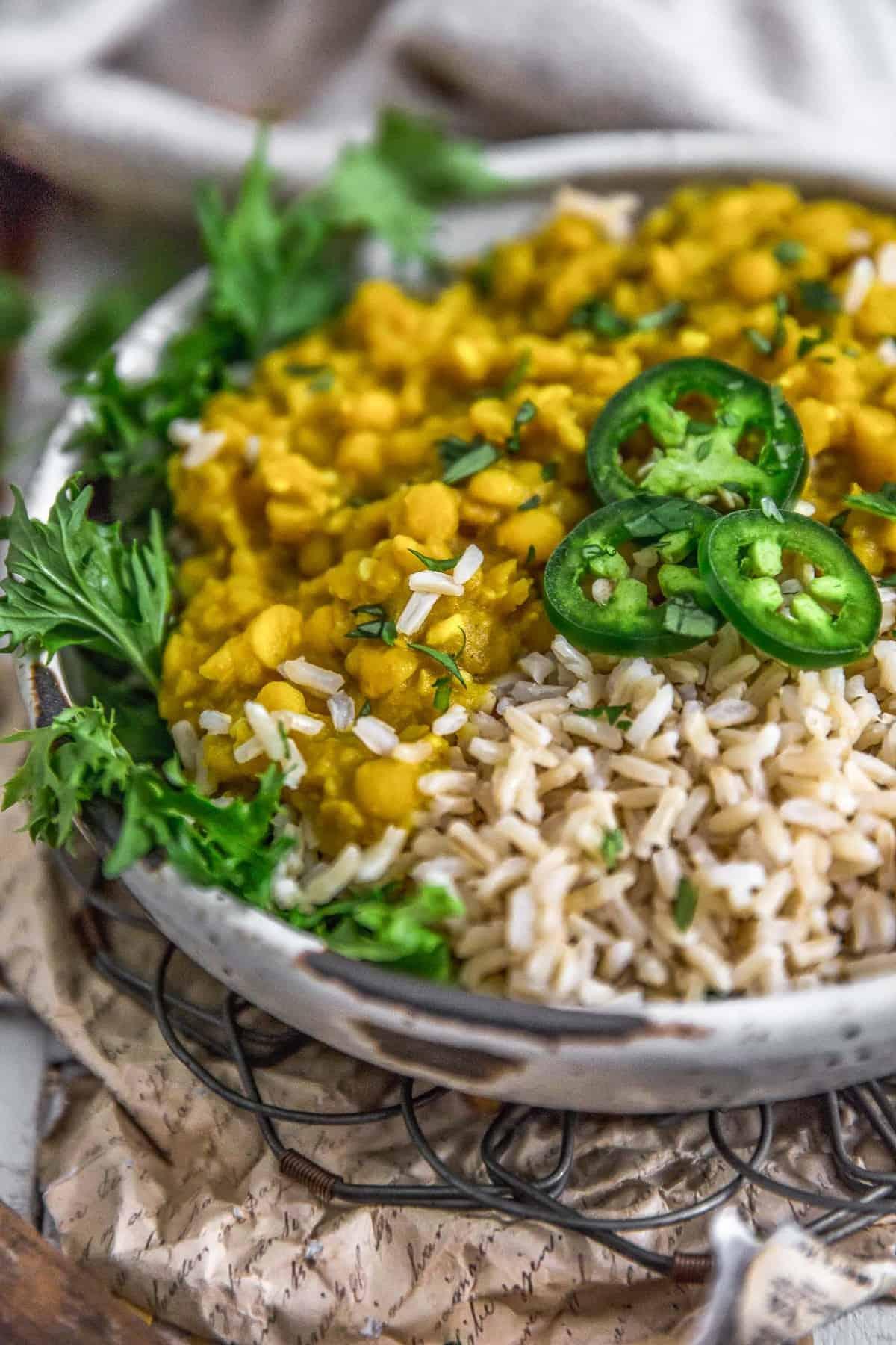 Ethiopian Yellow Split Pea Stew over rice