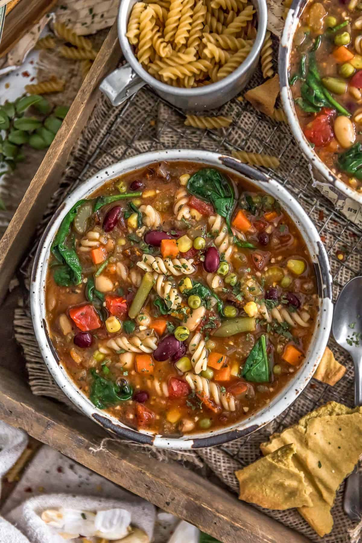 Bowl of Healthy Minestrone Soup