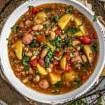 Bowl of Italian Sundried Tomato Potato Soup