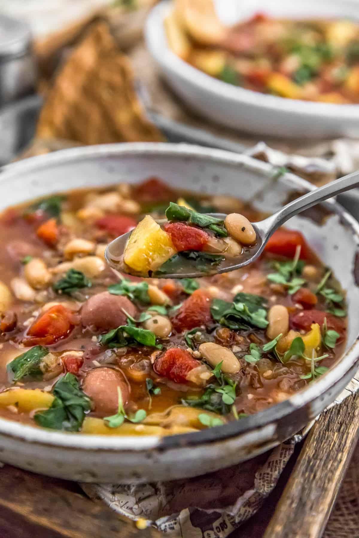 Eating Italian Sundried Tomato Potato Soup