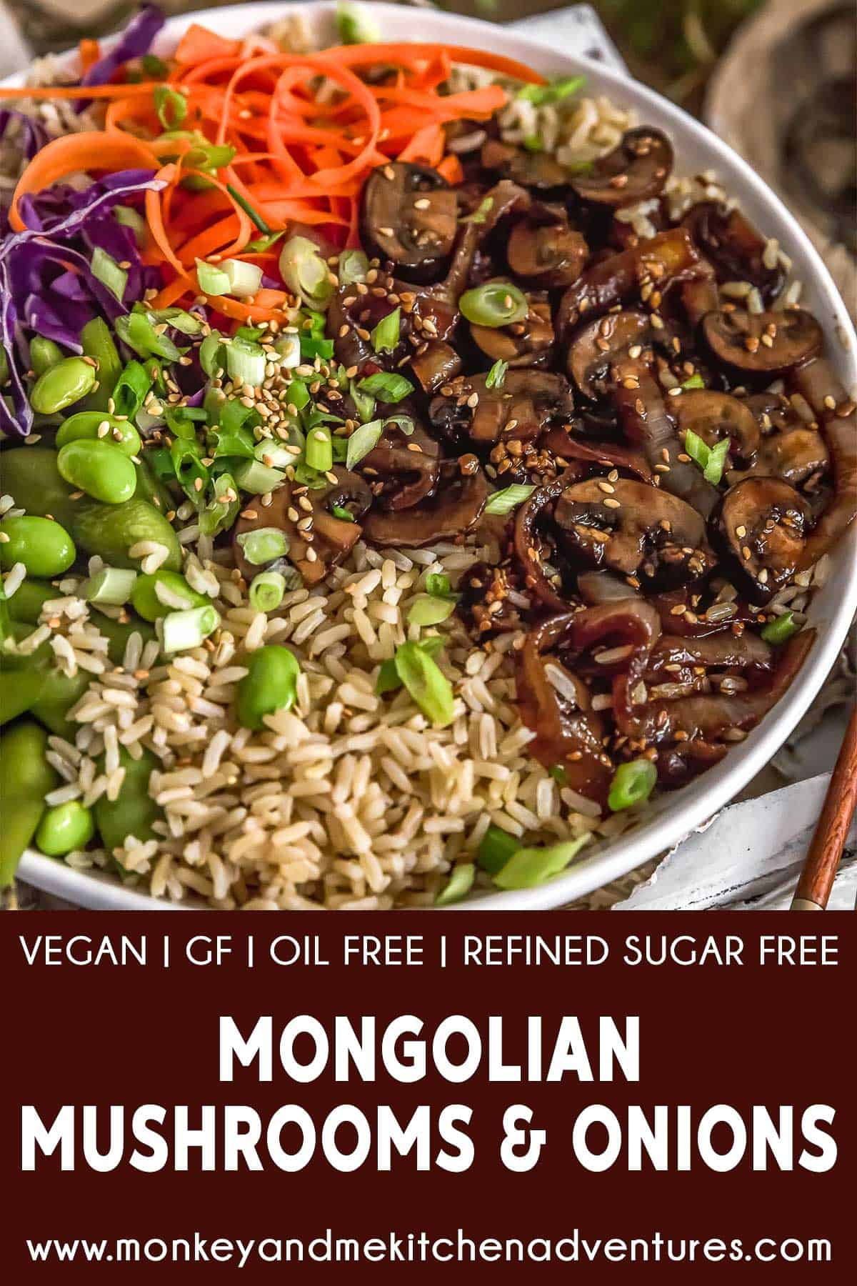 Mongolian Mushrooms and Onions with text description