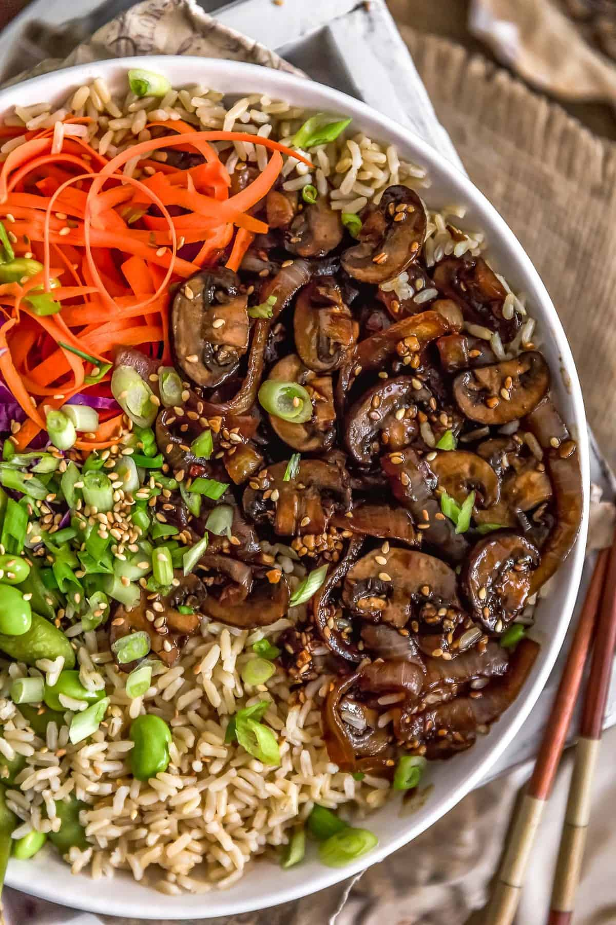 Mongolian Mushrooms and Onions