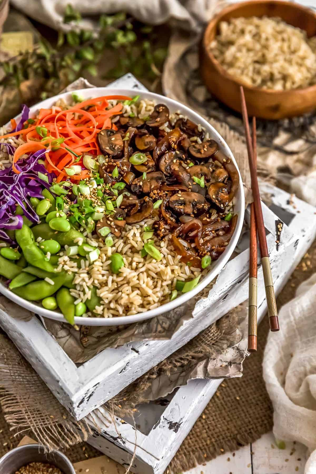Bowl of Mongolian Mushrooms and Onions