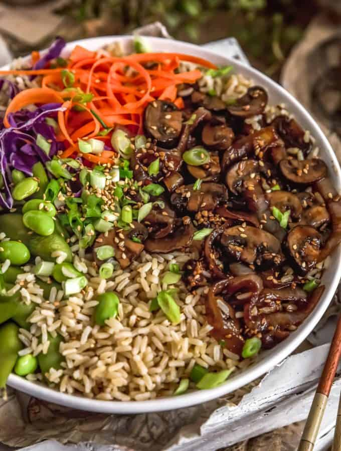 Close up of Mongolian Mushrooms and Onions