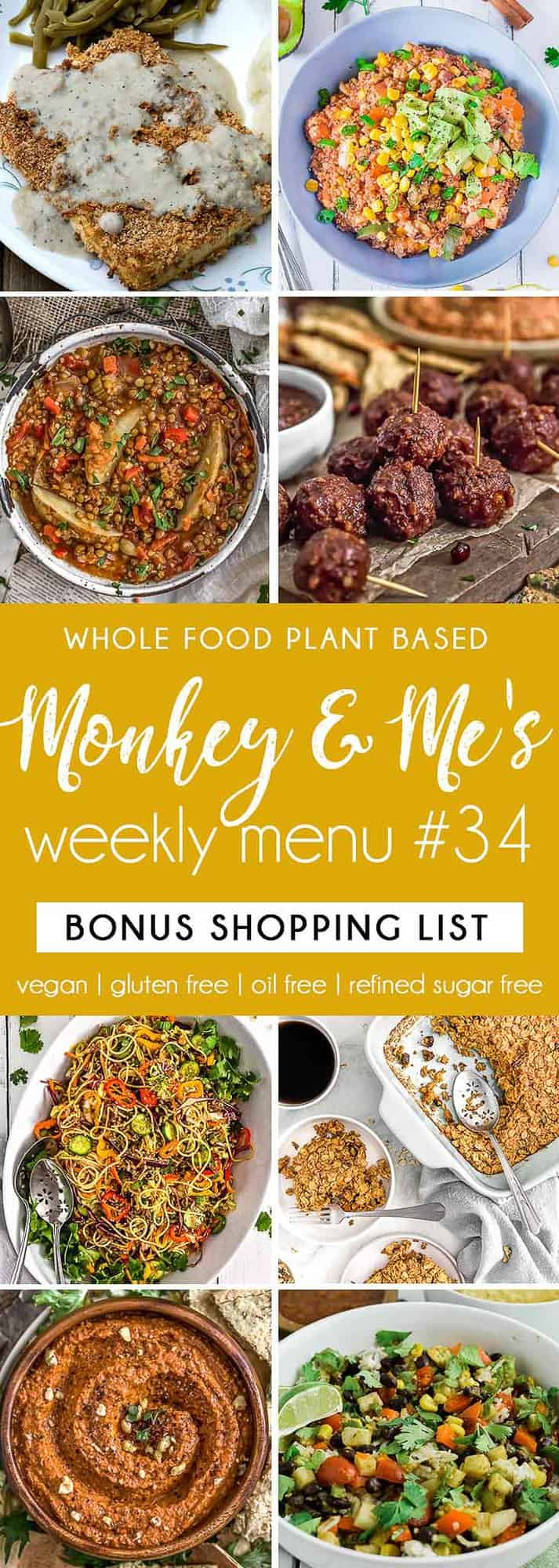 Monkey and Me's Menu 34 featuring 8 recipes