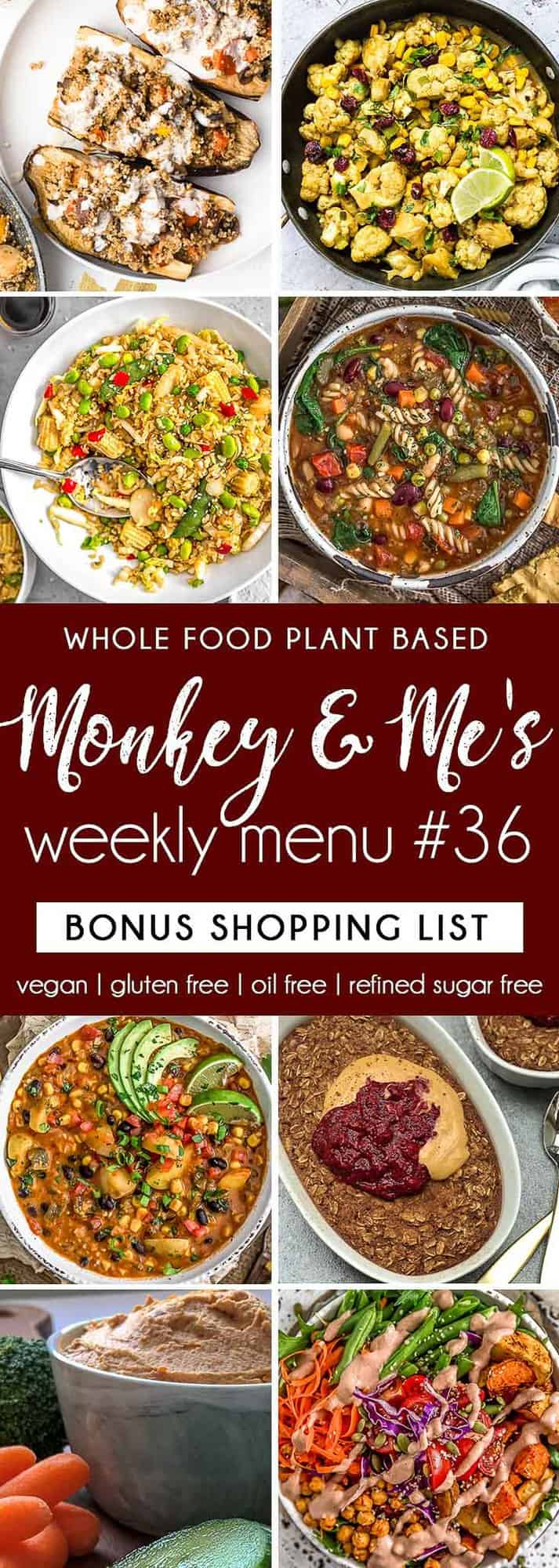 Monkey and Me's Menu 36 featuring 8 recipes