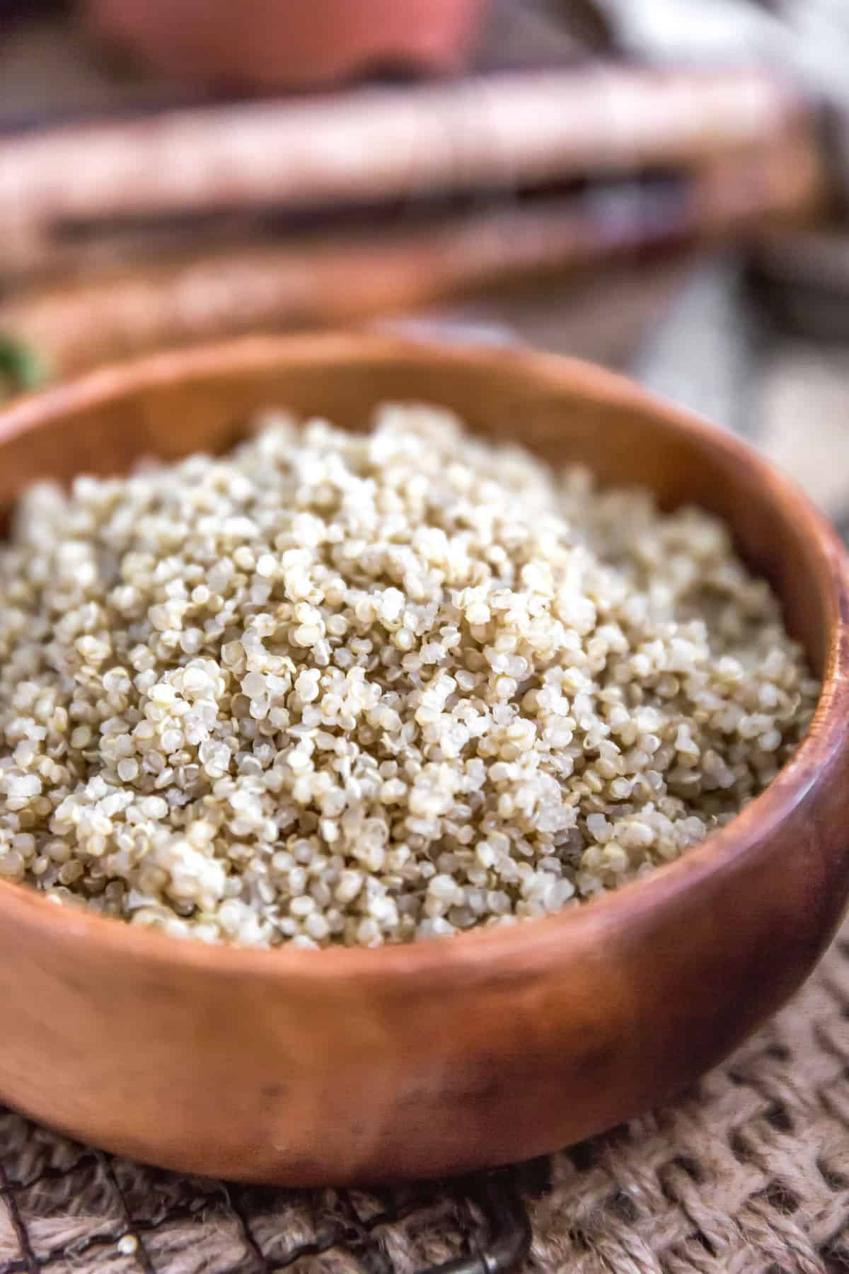 Perfectly Fluffy Quinoa in a bowl