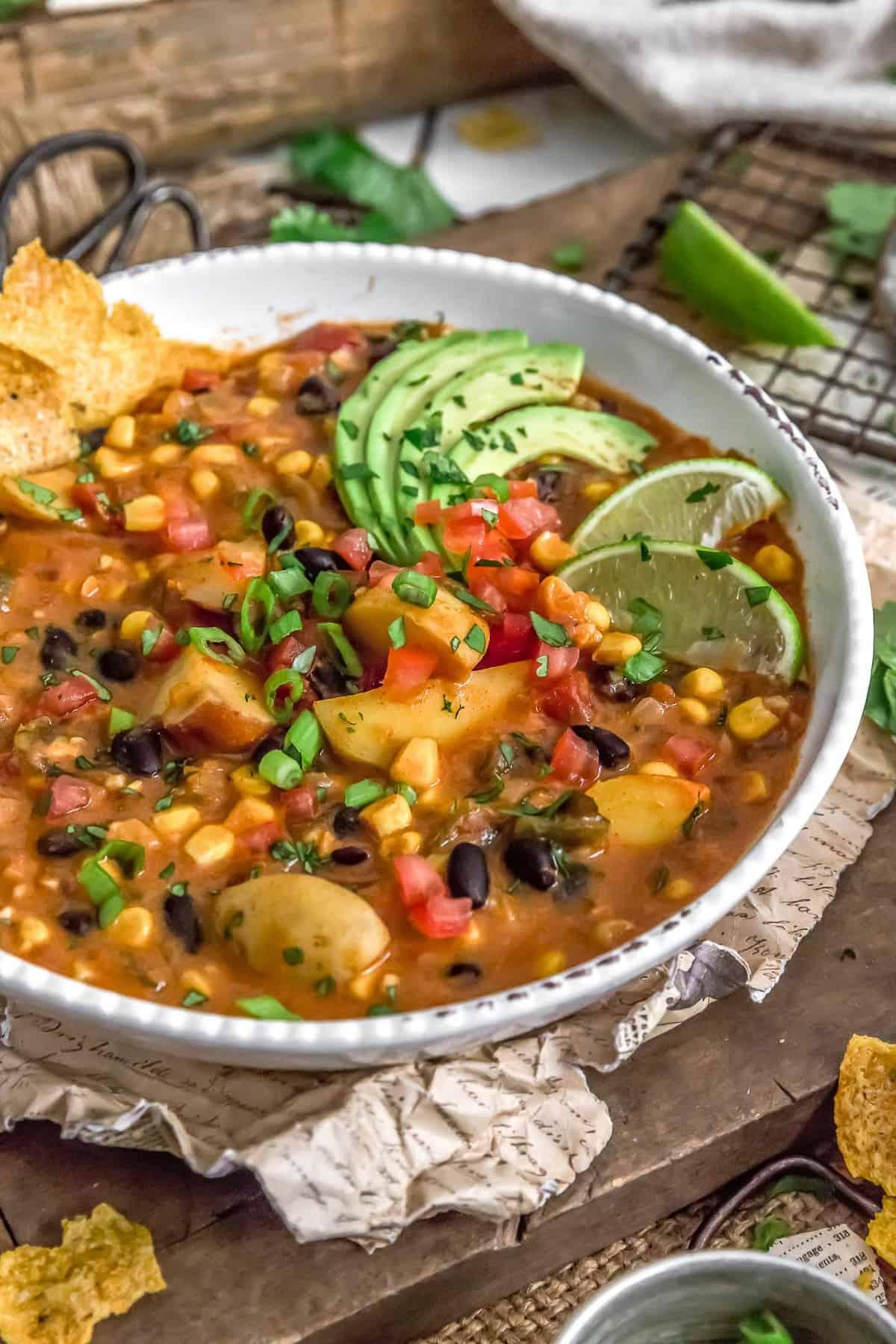 Bowl of Roasted Poblano Potato Stew
