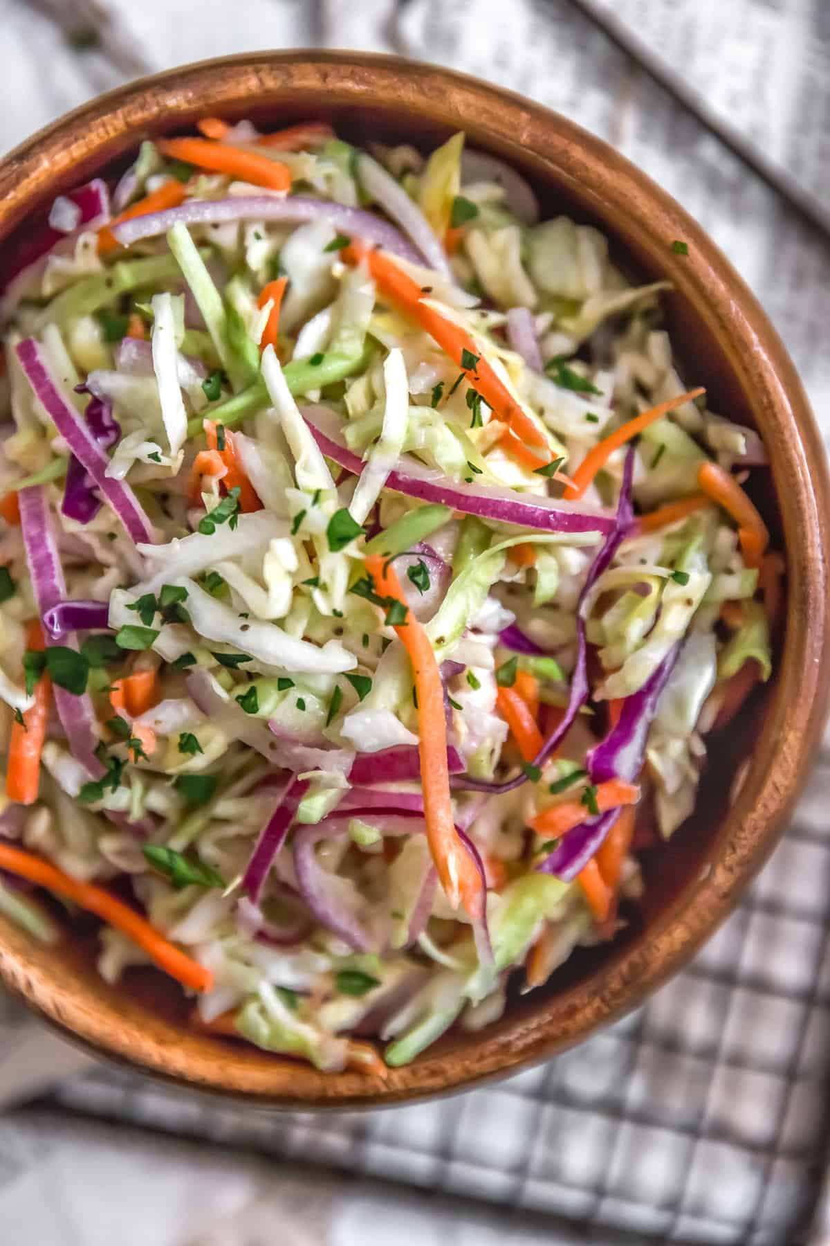 Sweet and Tangy Vinegar Coleslaw