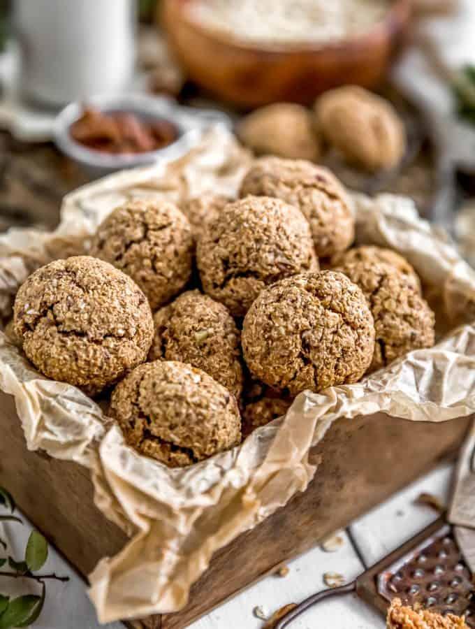 Close Up of Vegan Hummingbird Breakfast Cookies