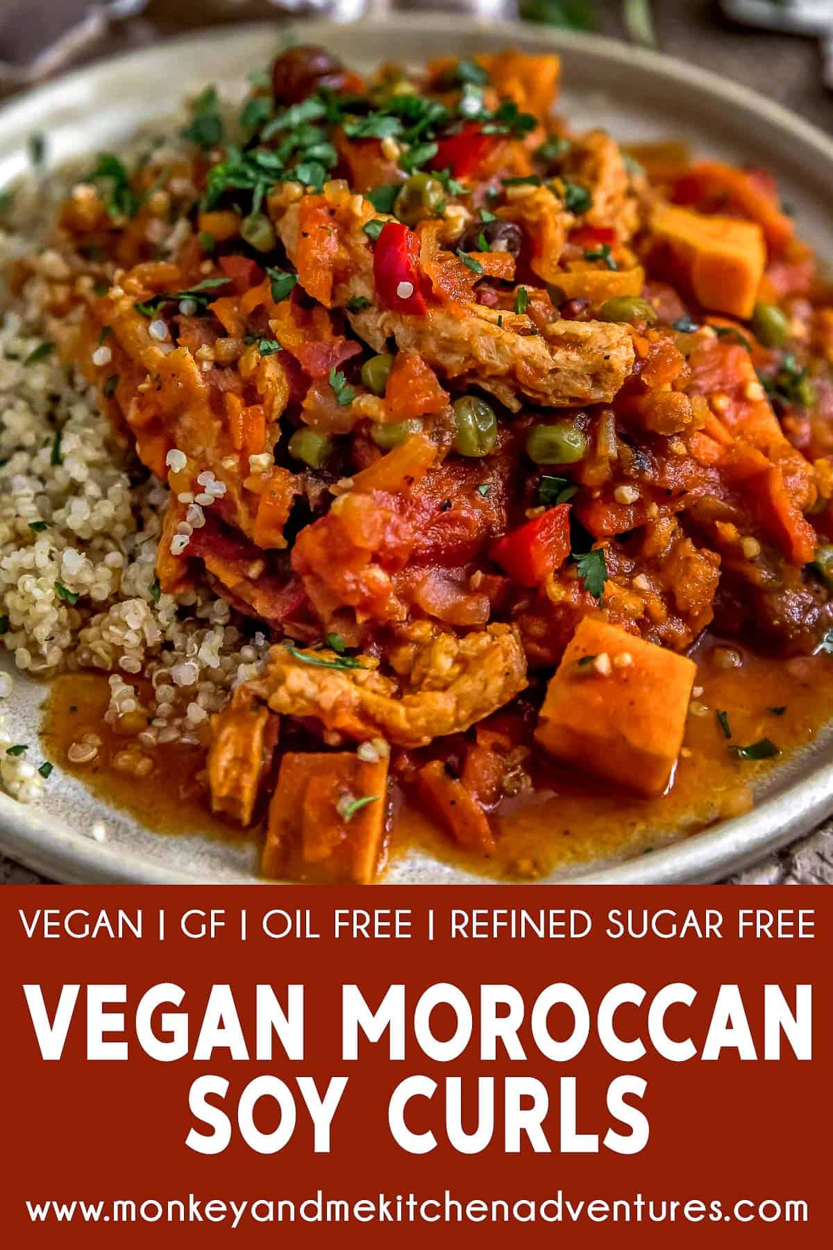 Moroccan Soy Curl Stew with text description