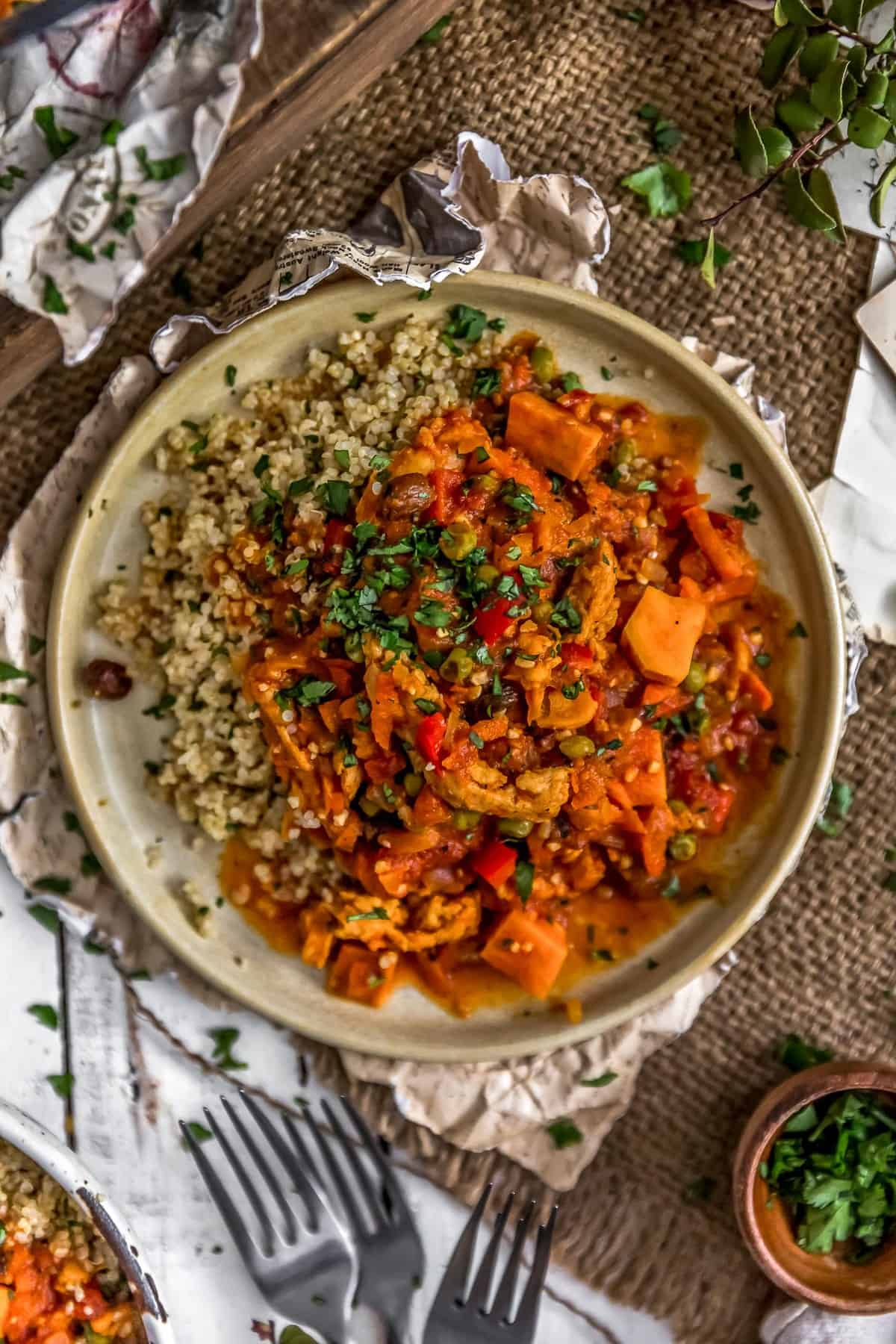 Moroccan Soy Curl Stew