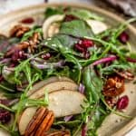 Plate of Beet Greens and Apple Salad