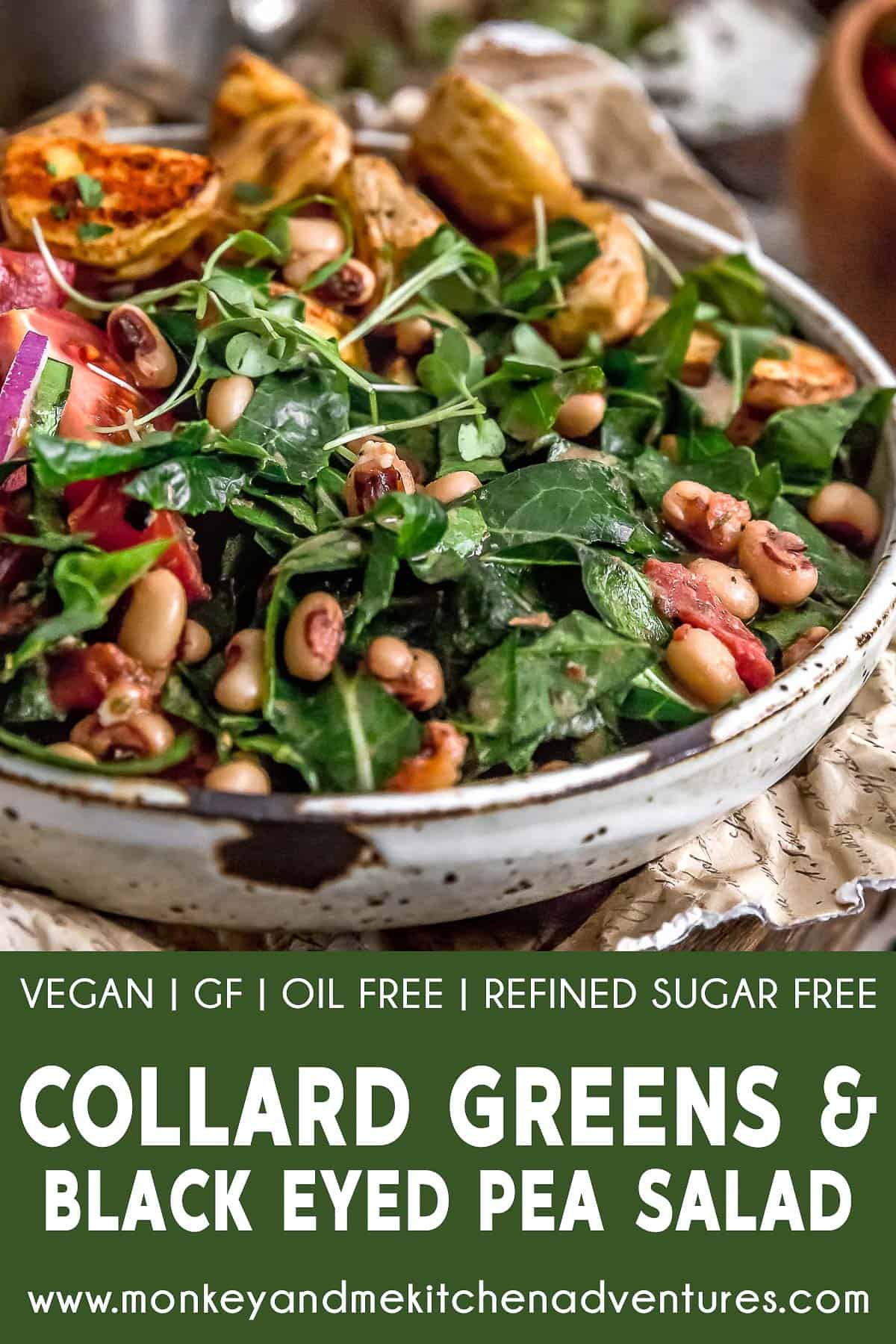 Collard Greens and Black-Eyed Pea Salad with text description