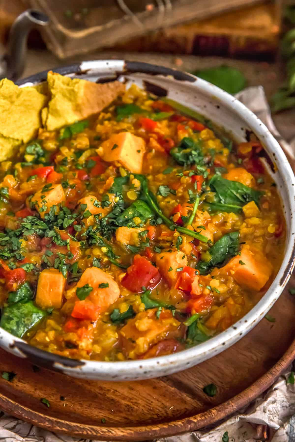 Curried Red Lentil and Sweet Potato Stew