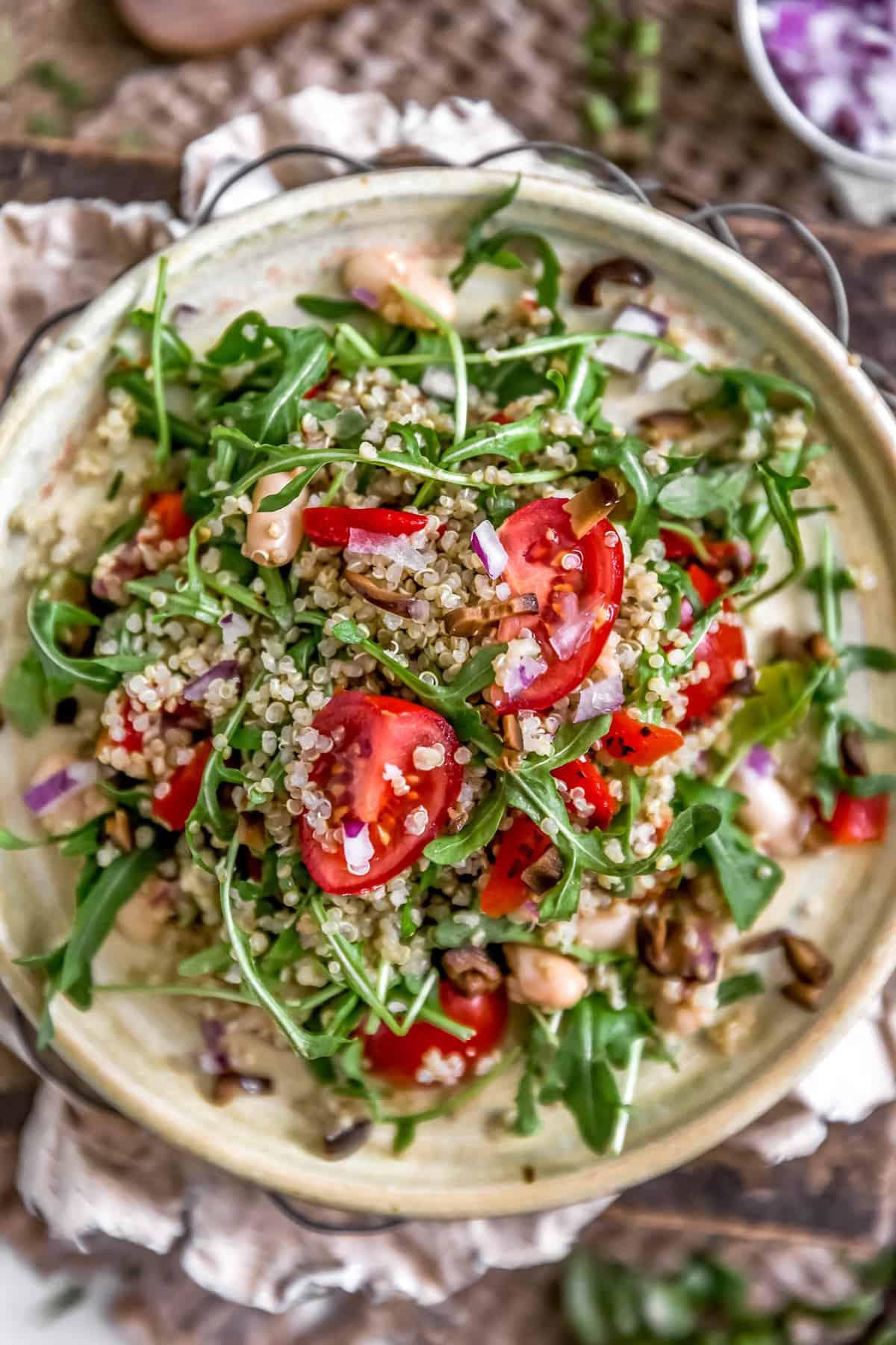 Plate of Mediterranean Quinoa Salad
