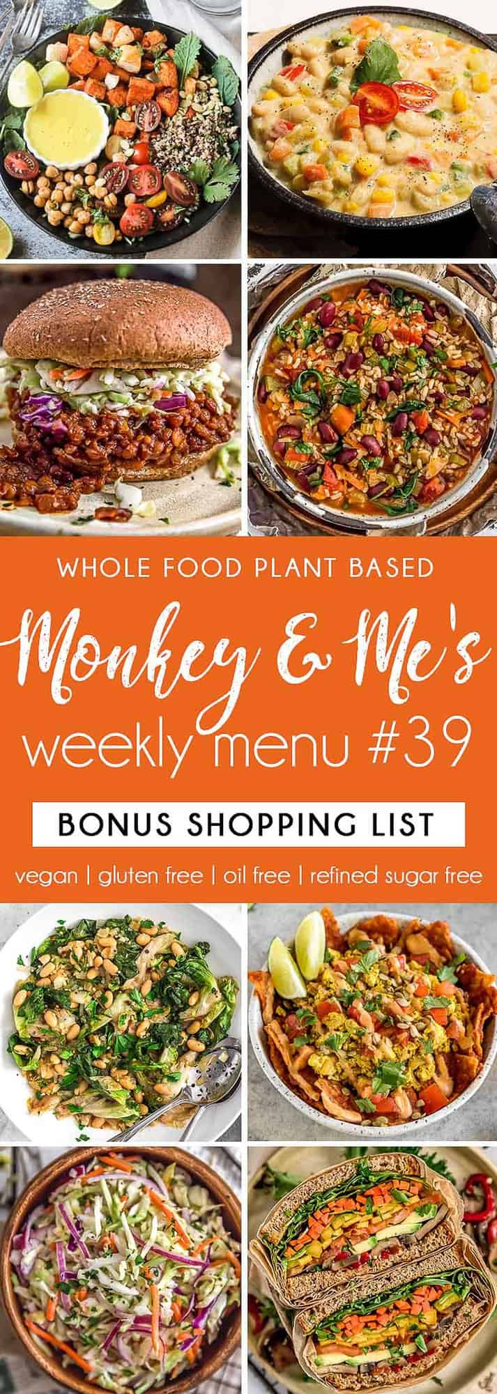 Monkey and Me's Menu 39 featuring 8 recipes