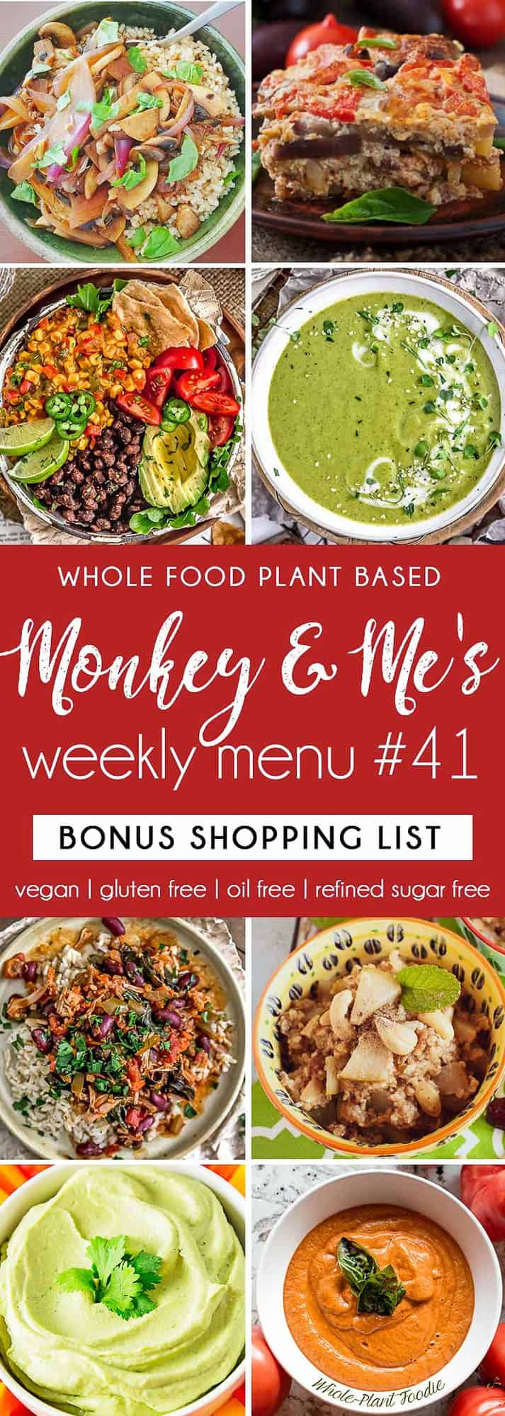 Monkey and Me's Menu 41 featuring 8 recipes