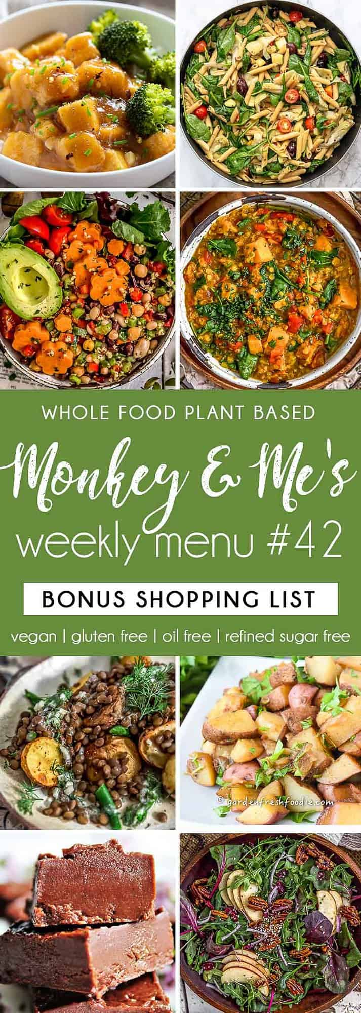 Monkey and Me's Menu 42 featuring 8 recipes