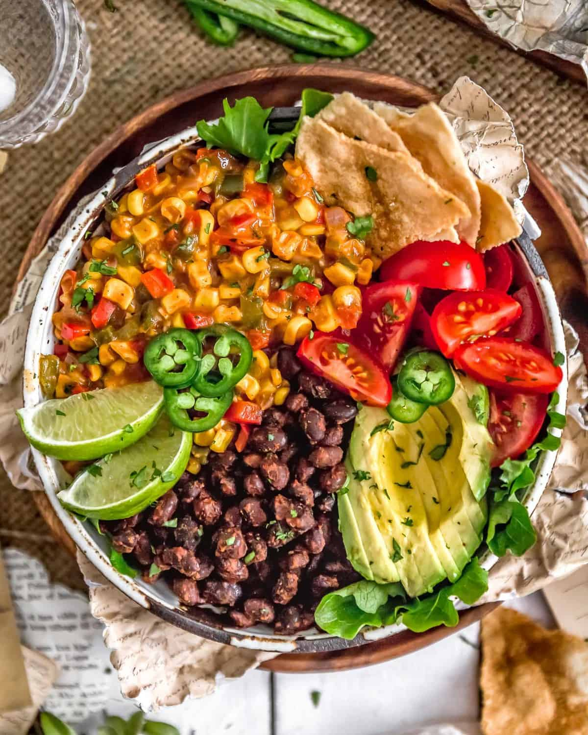 Veggie Bowl with Tex-Mex Creamed Corn