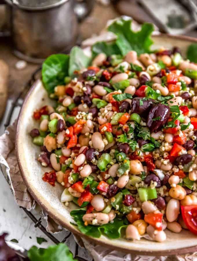 Close up of Tuscan Bean Salad