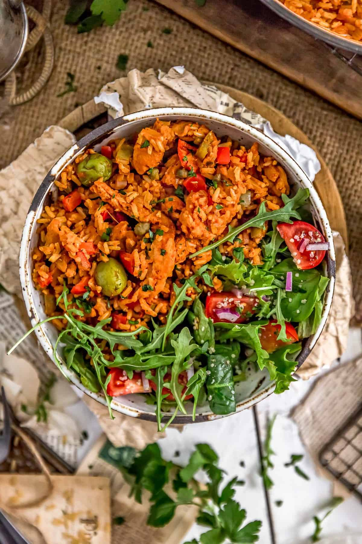 Bowl of Vegan Arroz on Pollo