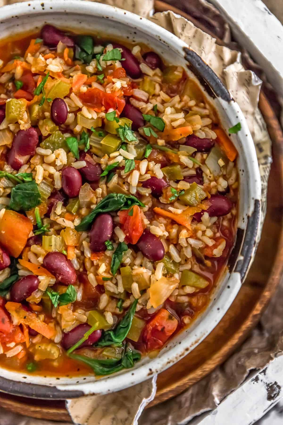 Bowl of Healthy Vegan Jambalaya
