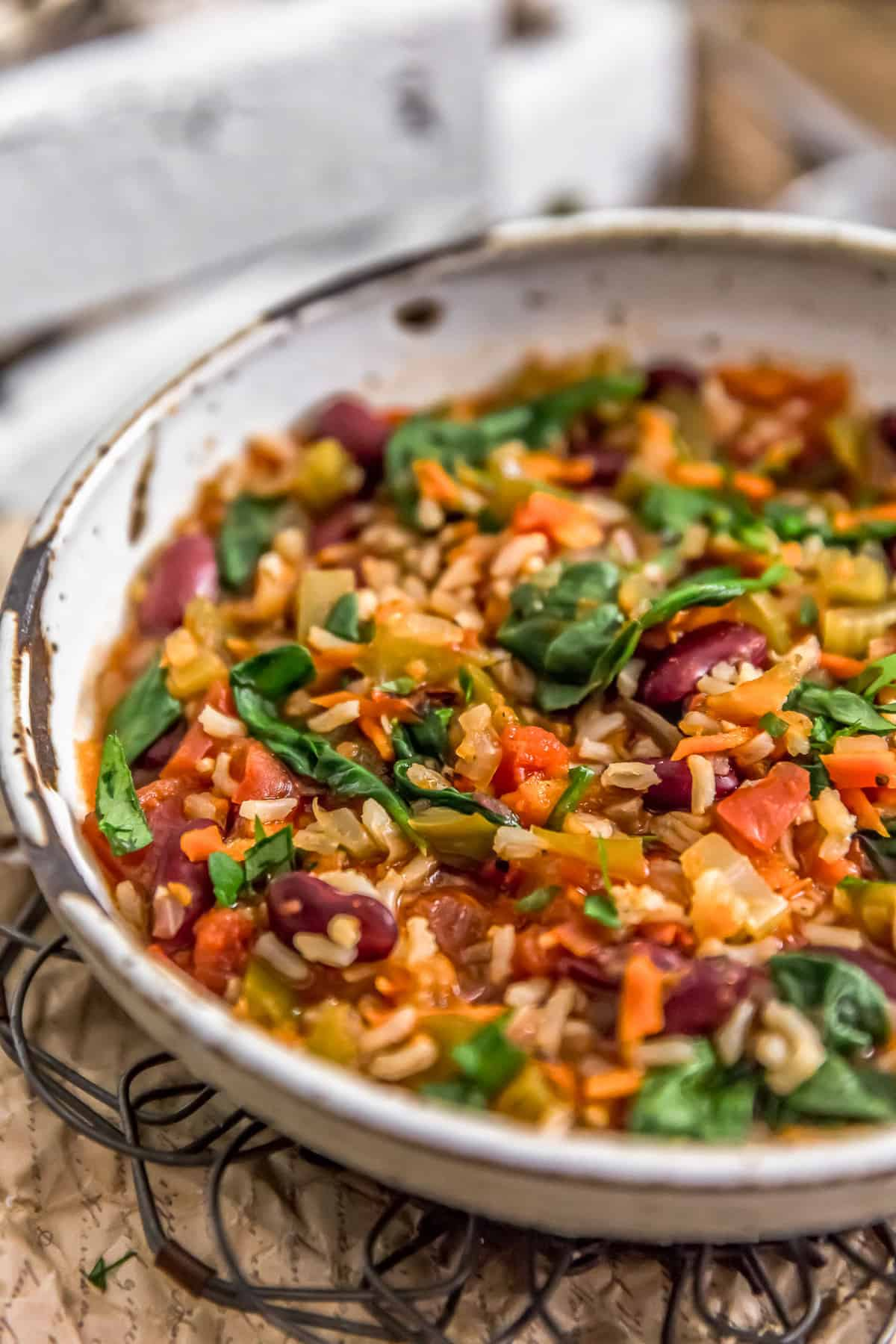 Close up of Healthy Vegan Jambalaya