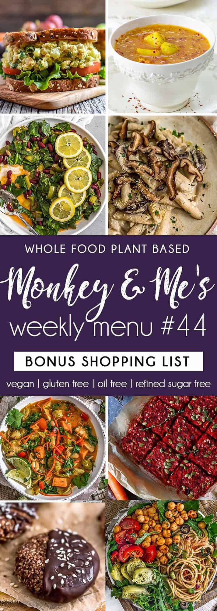 Monkey and Me's Menu 44 featuring 8 recipes