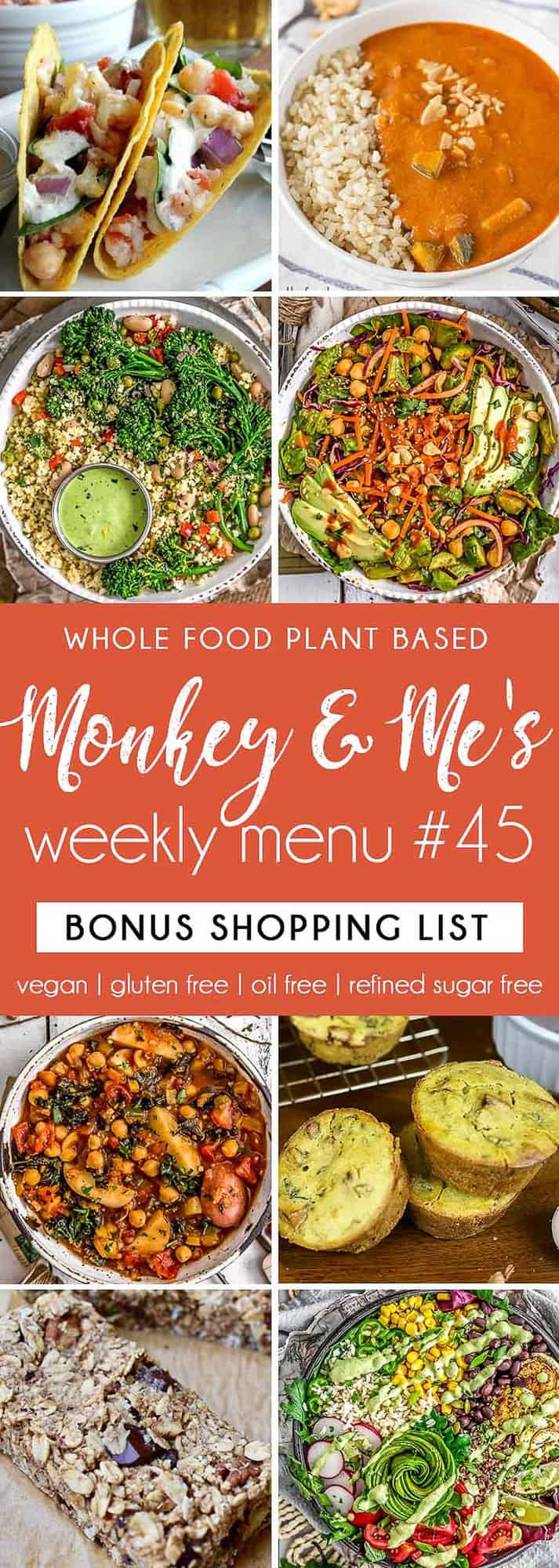 Monkey and Me's Menu 45 featuring 8 recipes