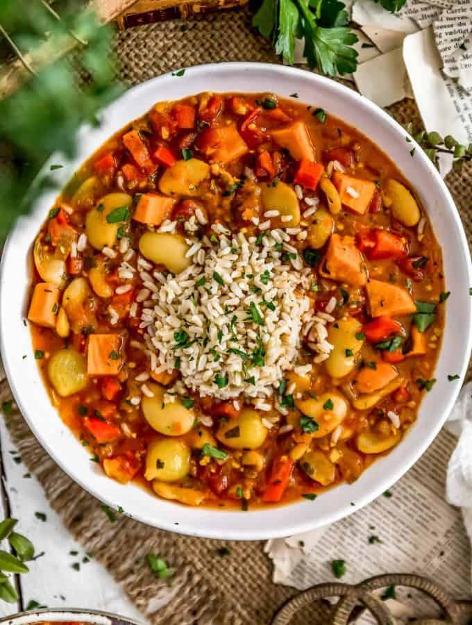 Spanish Butter Bean Sweet Potato Stew