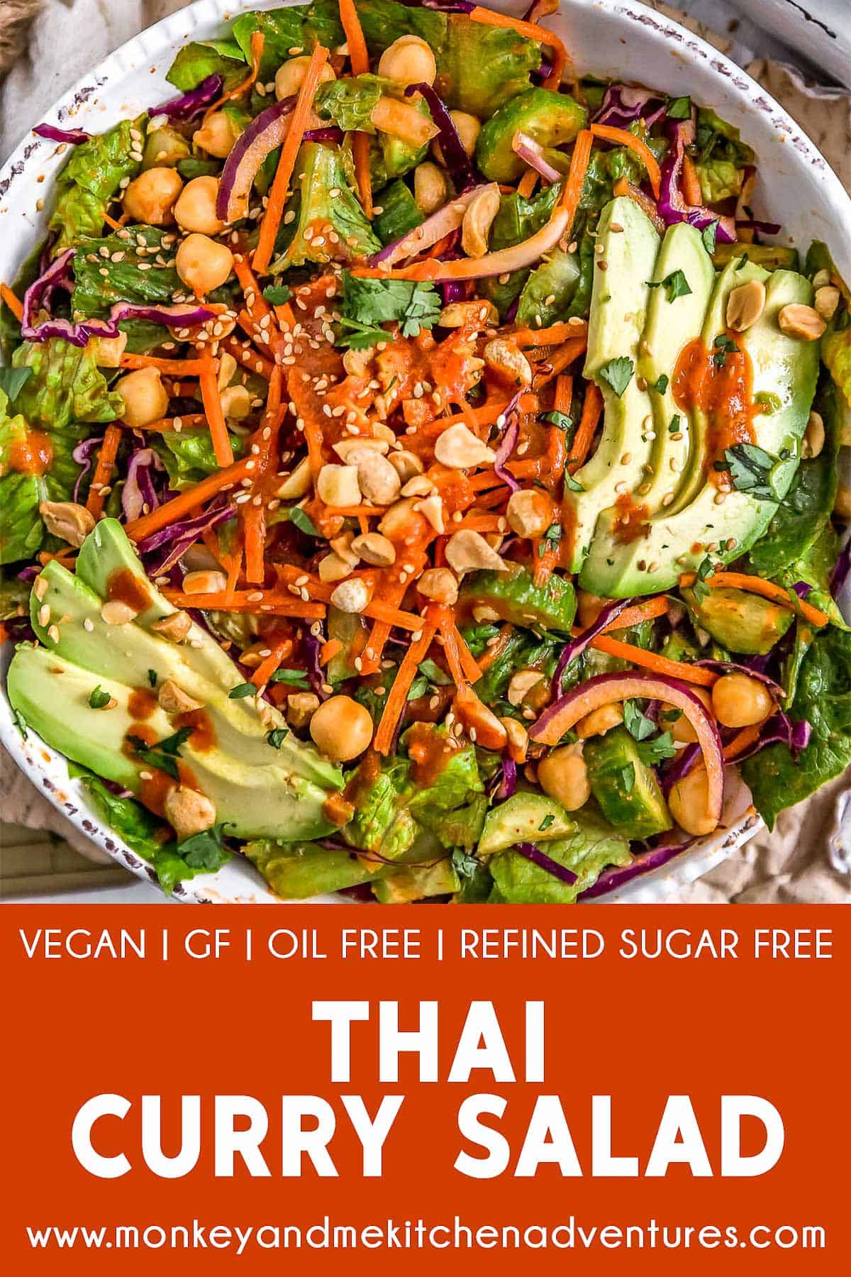 Thai Curry Salad with text description