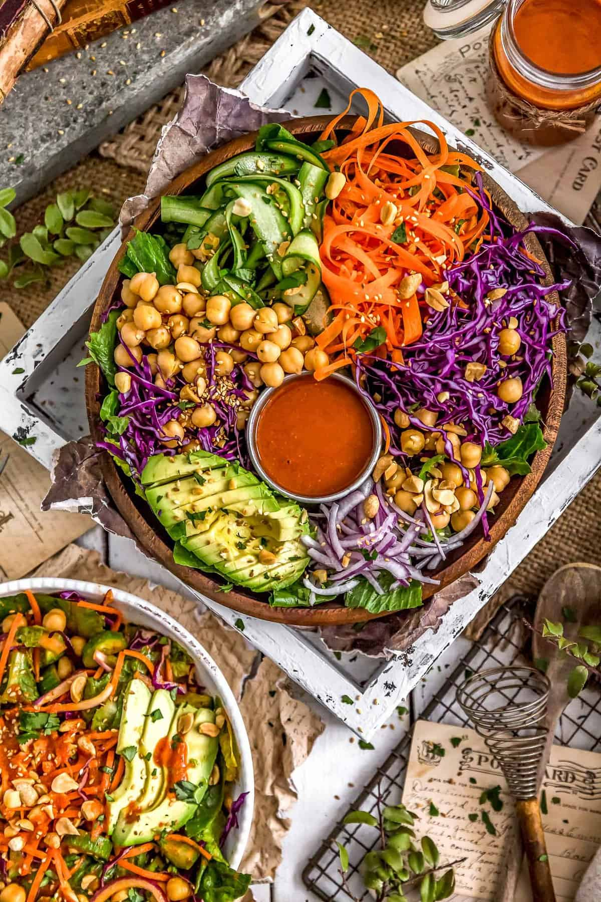 Tablescape of Thai Curry Salad
