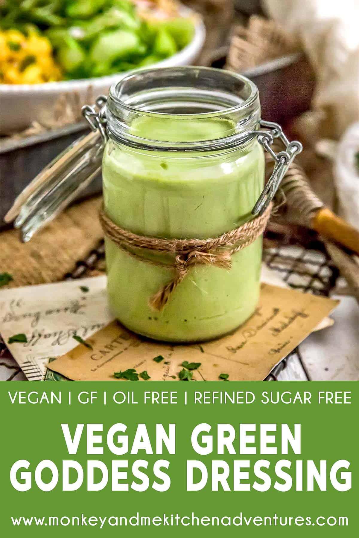 Vegan Green Goddess Dressing with text description