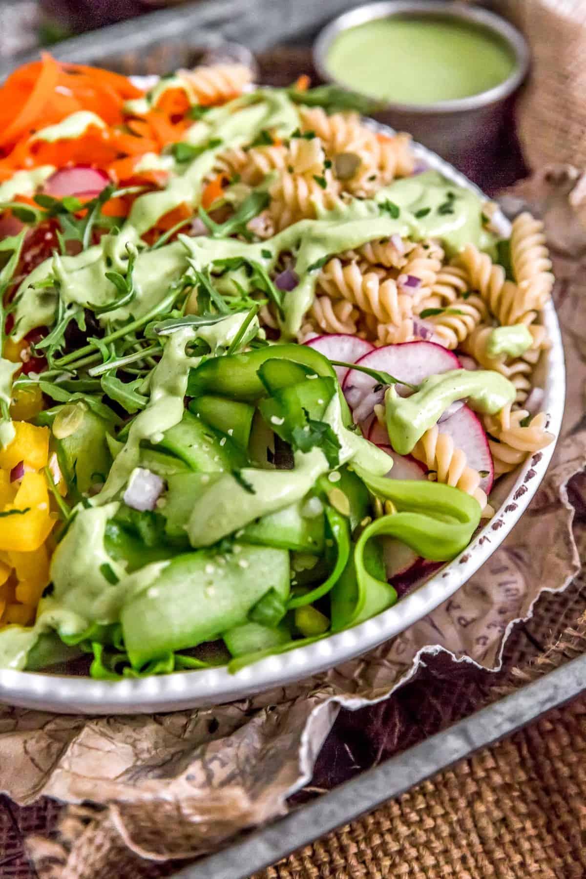 Salad with Vegan Green Goddess Dressing