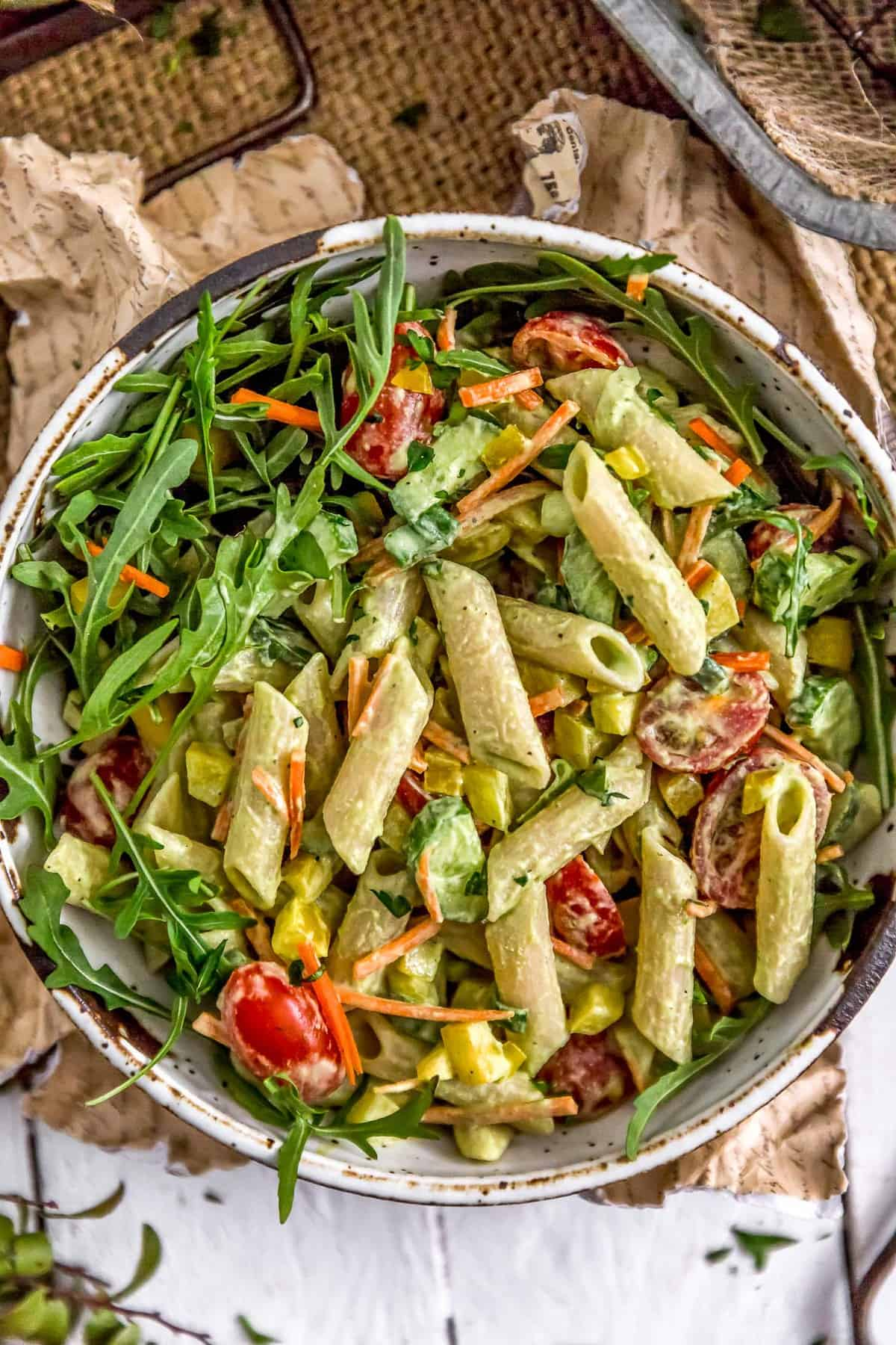Vegan Green Goddess Pasta Salad