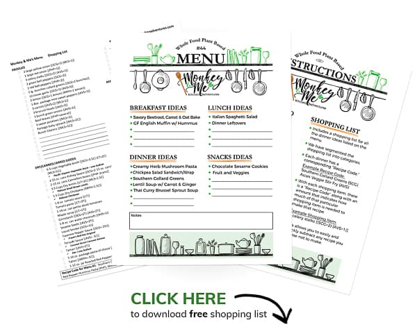 Monkey and Me's Menu 44 PDF Display