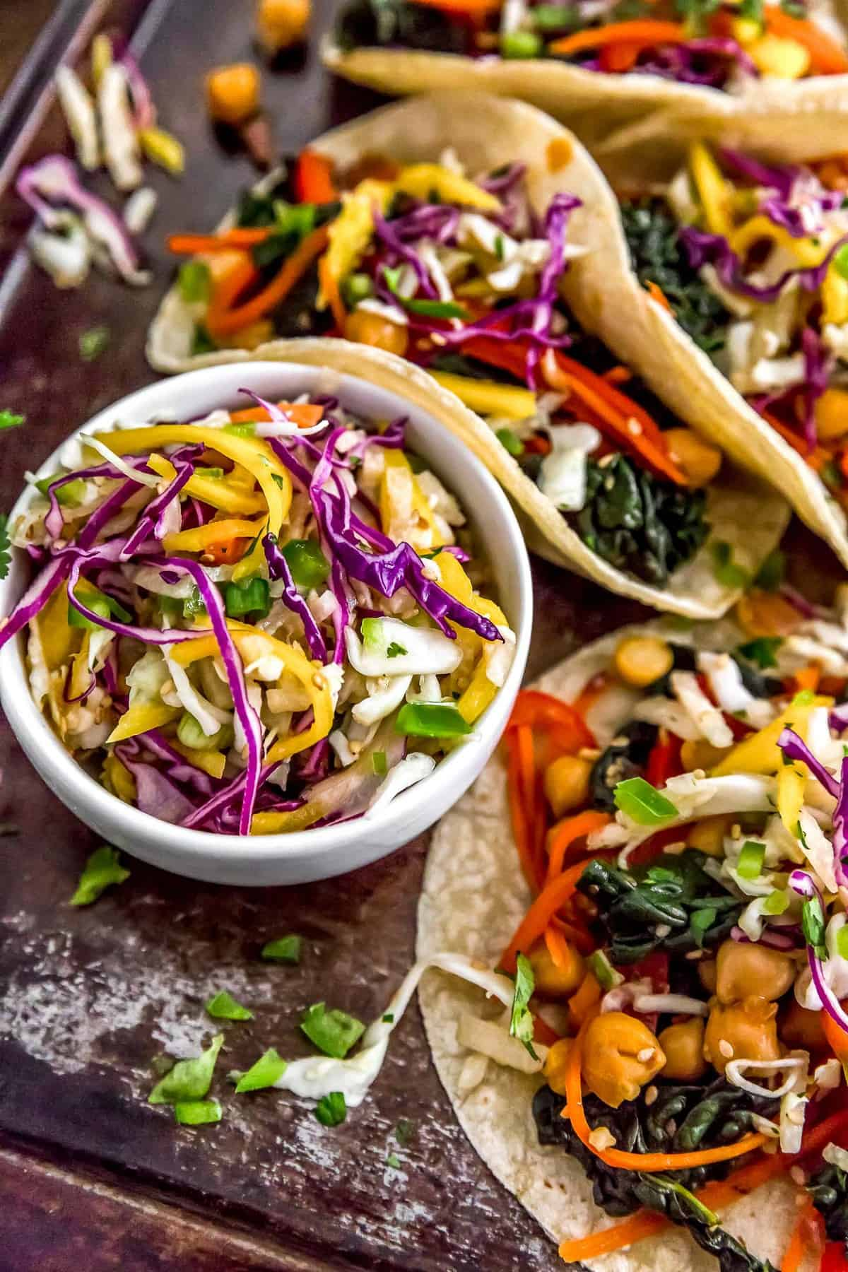 Asian Mango Slaw on tacos
