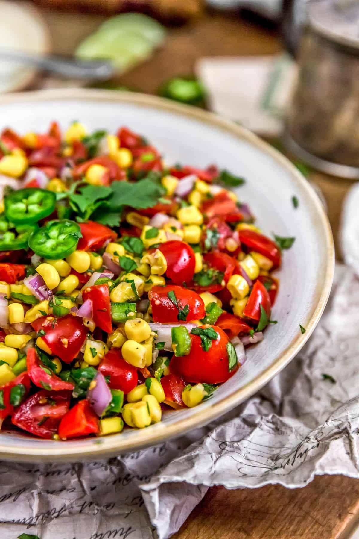 Bowl of Cilantro Lime Corn Salad