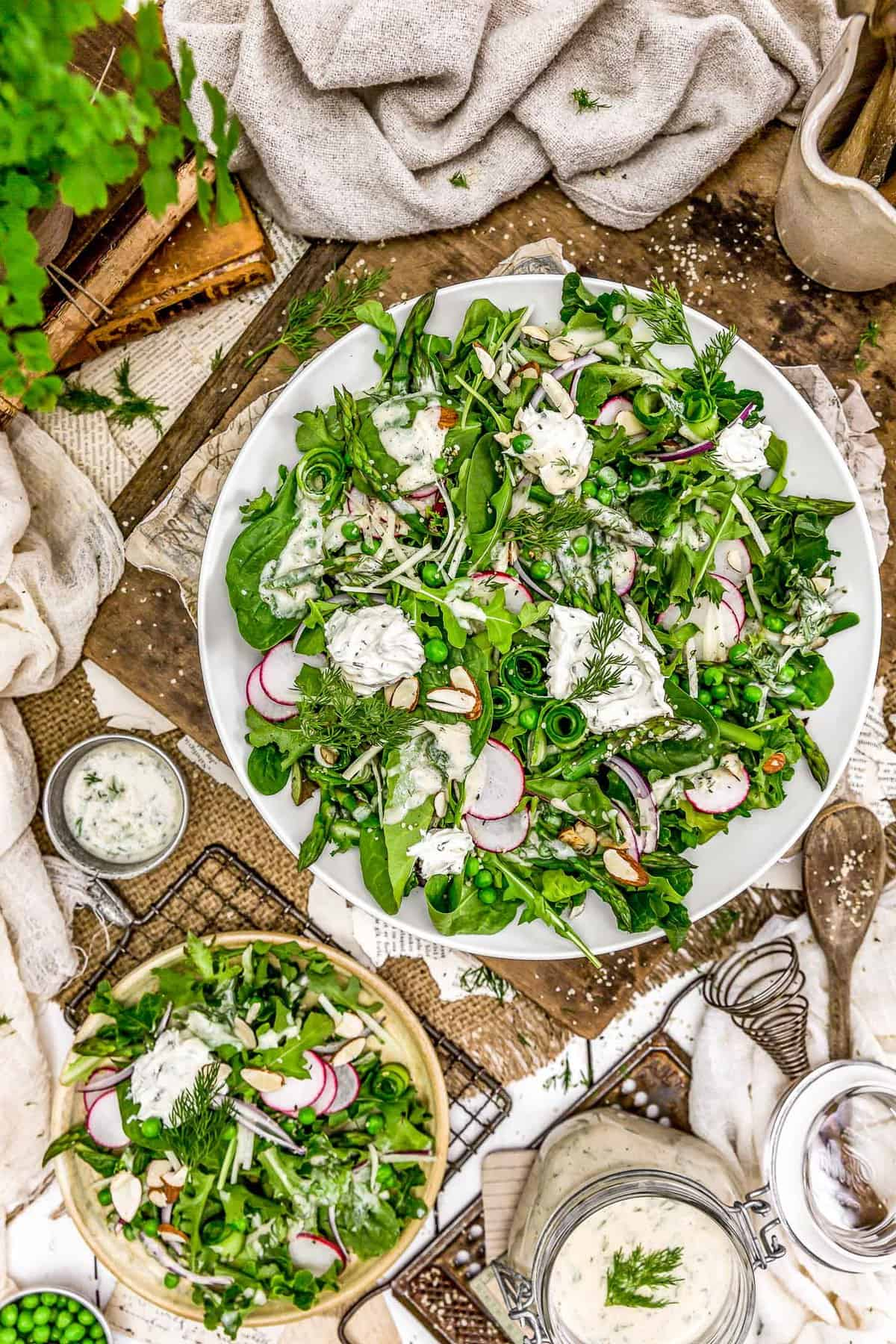 Tablescape of Creamy Dill Dressing