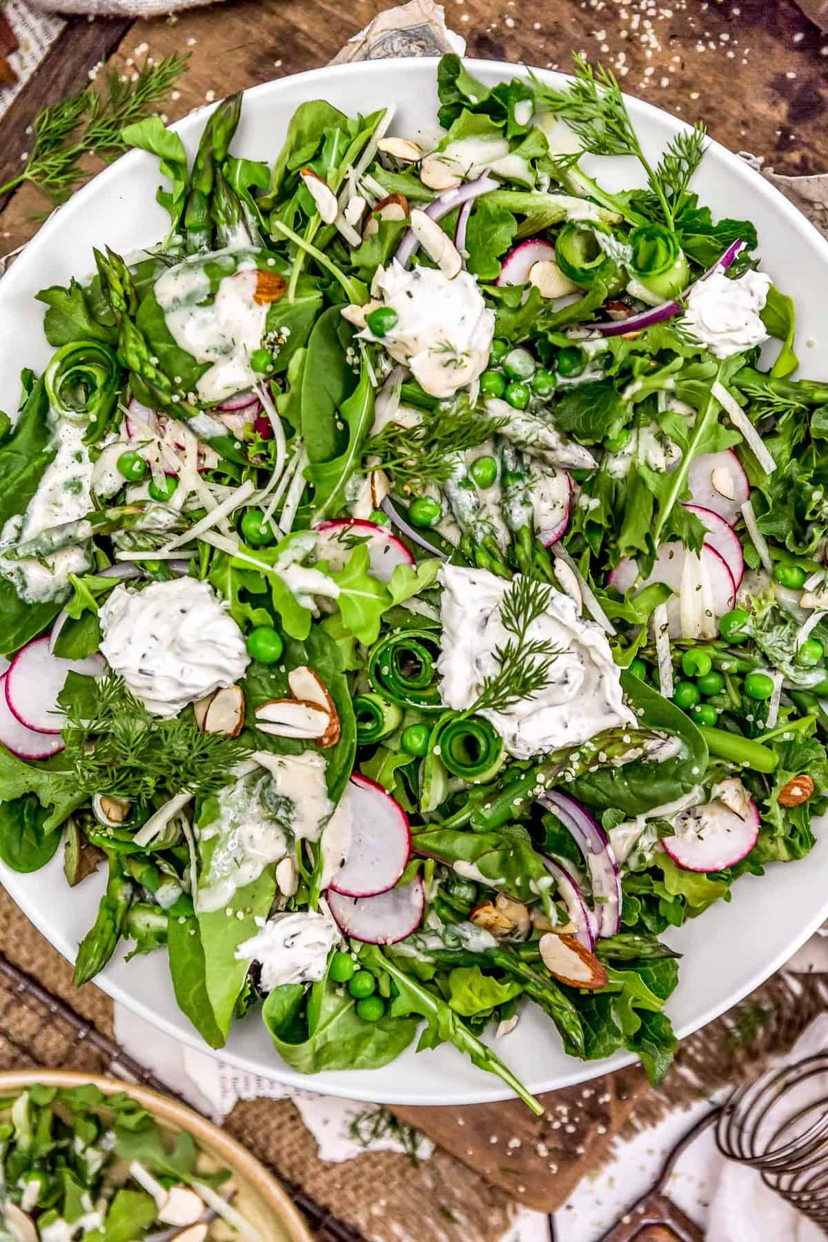 Spring Salad with Creamy Dill Dressing