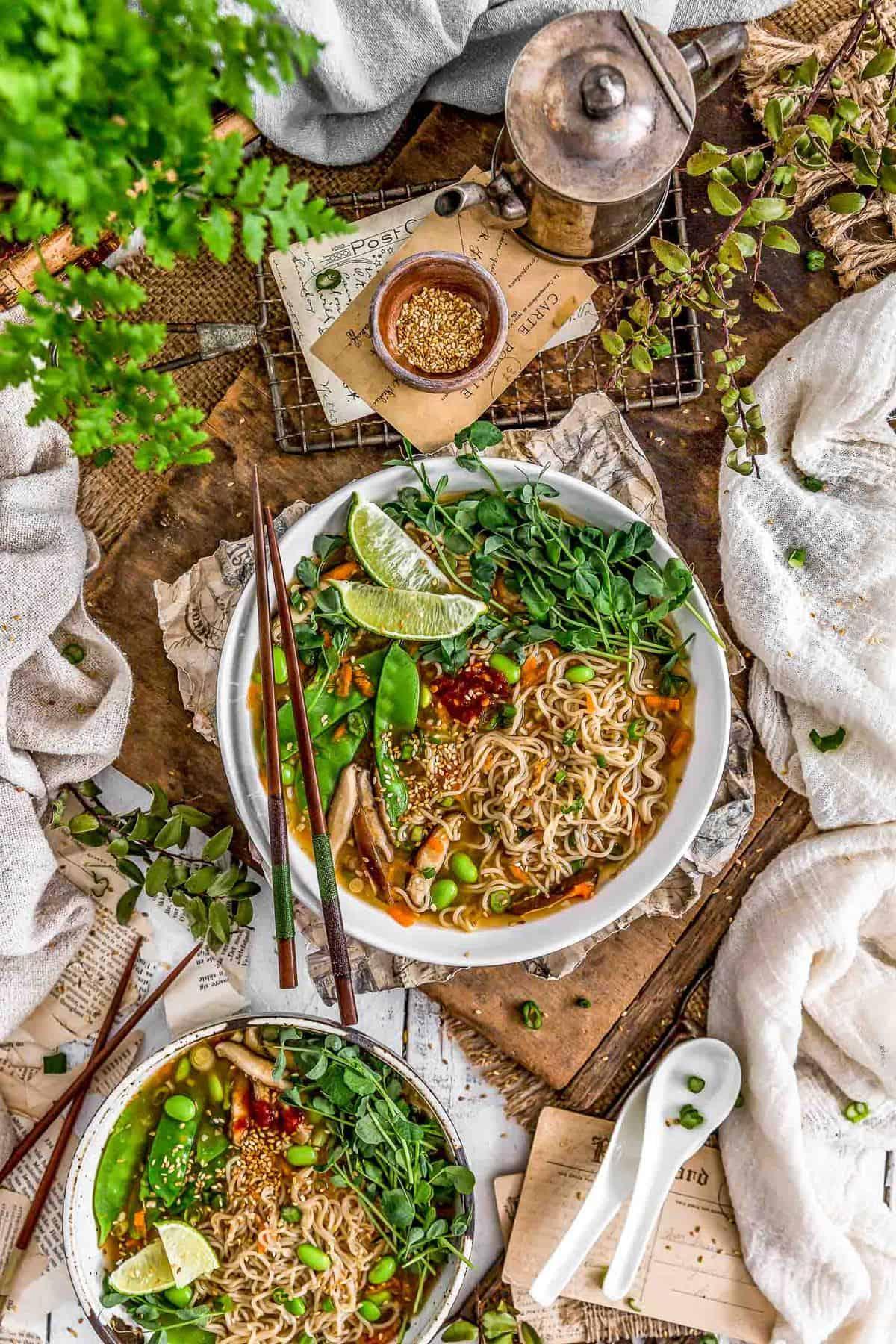 Tablescape of Easy Vegan Ramen