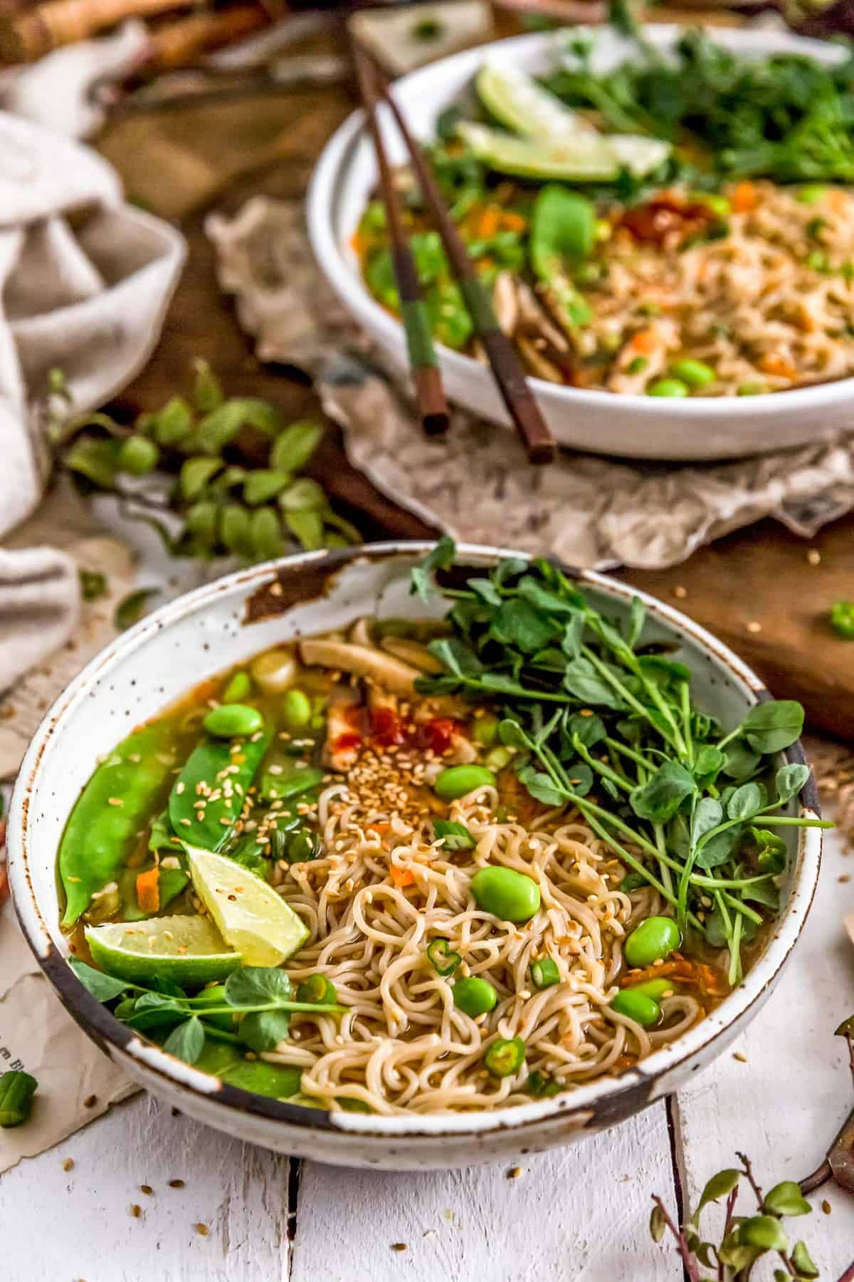 Two bowls of Easy Vegan Ramen