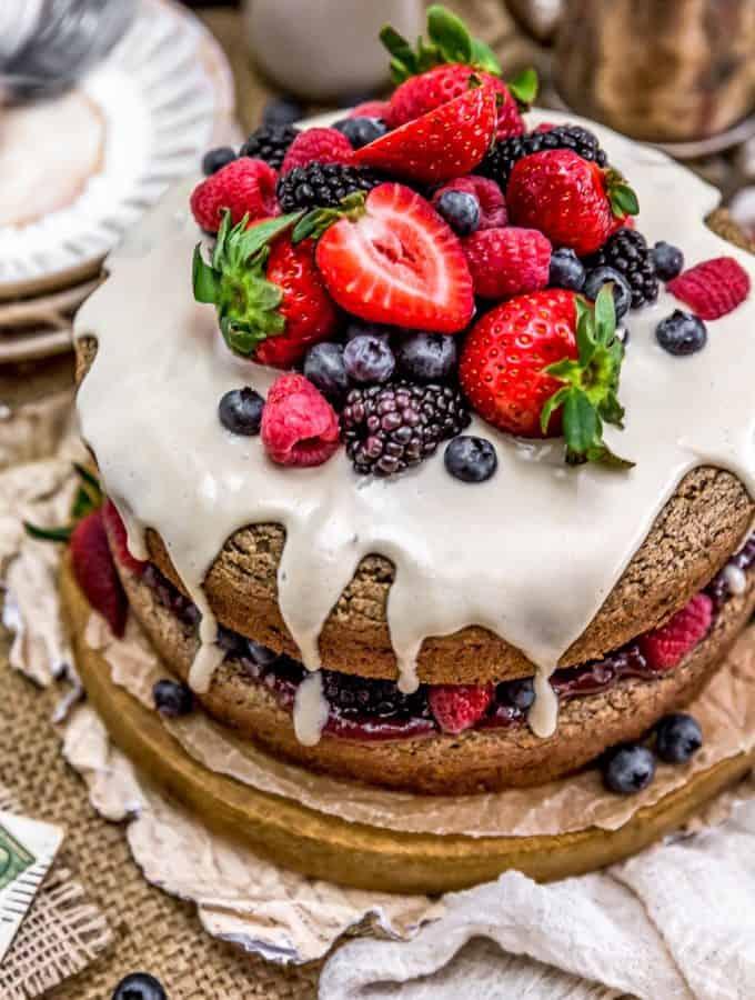 Sideview of Healthy Vegan Buckwheat Cake