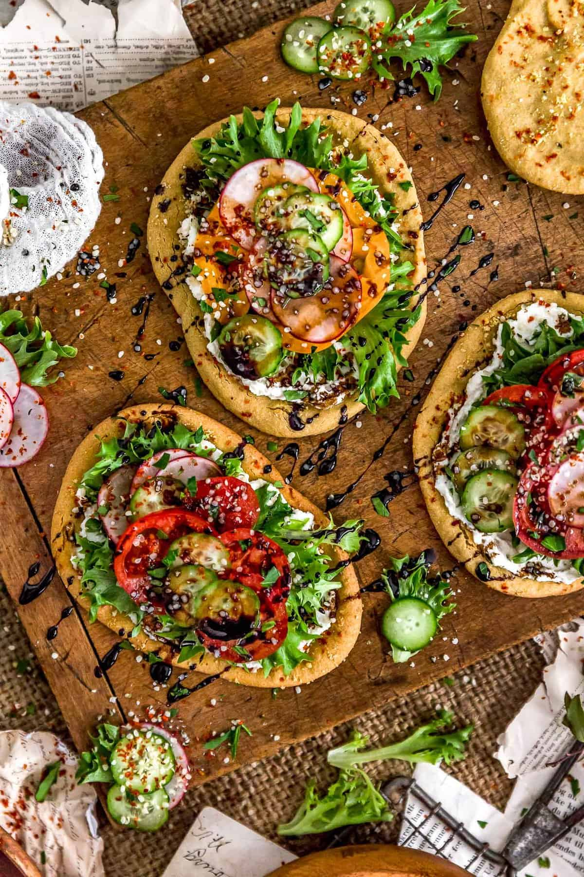 Mini Mediterranean Quinoa Flatbreads
